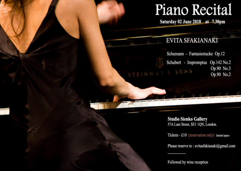 Evita Piano Recital